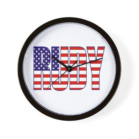 Rudy Giuliani Presidential Flag Wall Clock