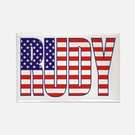 Rudy Giuliani Presidential Flag Rectangle Magnet