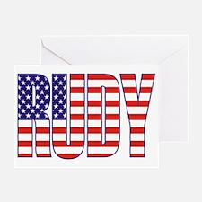 Rudy Giuliani Presidential Flag Greeting Card