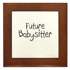 Future Babysitter Framed Tile