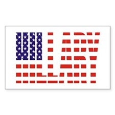 Hillary Clinton Flag President Sticker (Rectangula
