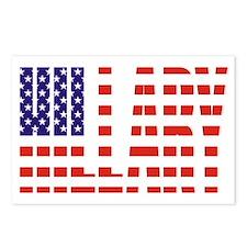 Hillary Clinton Flag President Postcards (Package