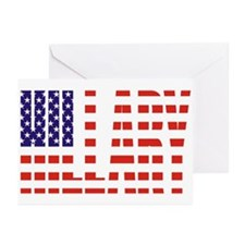 Hillary Clinton Flag President Greeting Cards (Pk