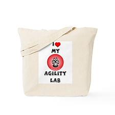 Agility Labrador Tote Bag