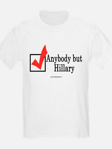 Anybody but Hillary Kids T-Shirt