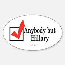 Anybody but Hillary Oval Decal