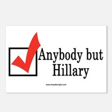 Anybody but Hillary Postcards (Package of 8)
