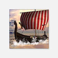 The viking longship Sticker