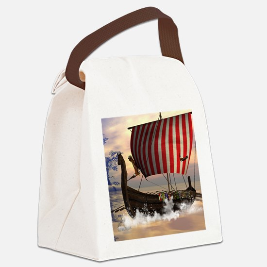 The viking longship Canvas Lunch Bag