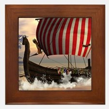 The viking longship Framed Tile