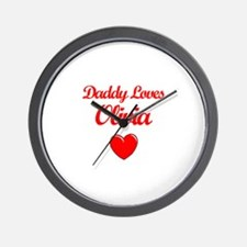 Daddy Loves Olivia Wall Clock