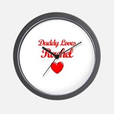 Daddy Loves Rachel Wall Clock