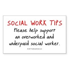Social Work Tips Decal
