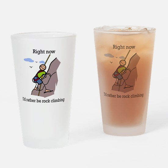 Rock Climbing designs Drinking Glass