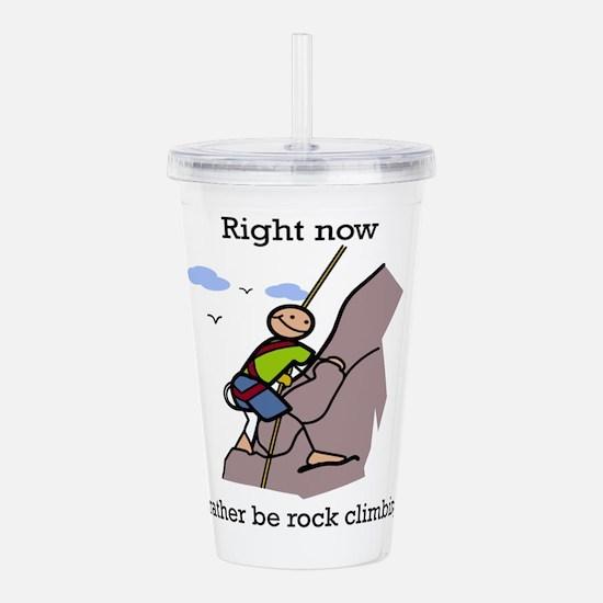 Rock Climbing designs Acrylic Double-wall Tumbler