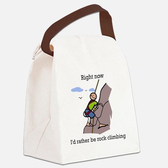 Rock Climbing designs Canvas Lunch Bag
