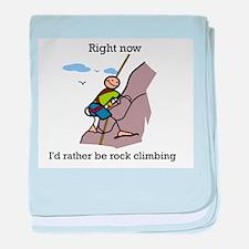 Rock Climbing designs baby blanket