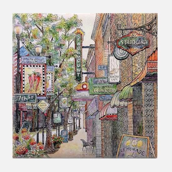 State Street, Bristol, Tn Tile Coaster