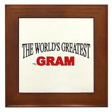 """""""The World's Greatest Gram"""" Framed Tile"""