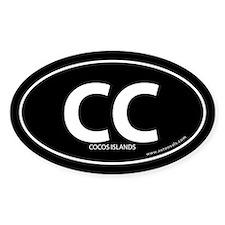 Cocos Islands country bumper sticker -Black (Oval)