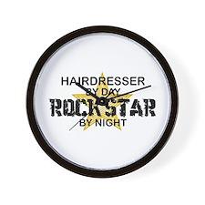 Hairdresser Rock Star Wall Clock