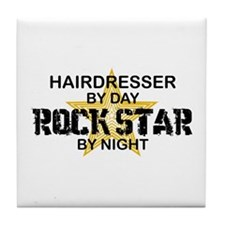 Hairdresser Rock Star Tile Coaster
