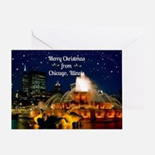 Cute Chicago christmas Greeting Card