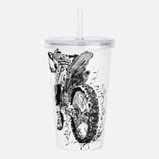 Motor Cross Acrylic Double-wall Tumbler