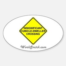 Insignificant Cubicle Oval Decal