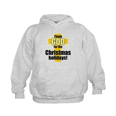 Thank God for Christmas Kids Hoodie