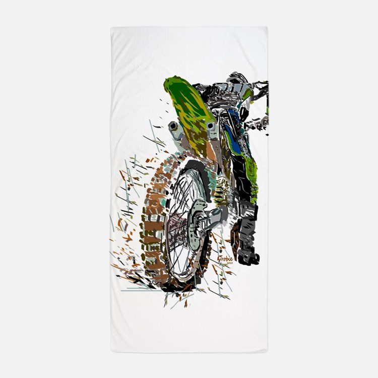 Motorcross Beach Towel