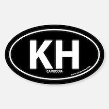 Cambodia country bumper sticker -Black (Oval)