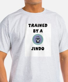 Trained by a Jindo Ash Grey T-Shirt