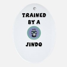 Trained by a Jindo Keepsake (Oval)