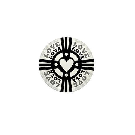 Cross of Love Mini Button