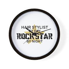 Hair Stylist Rock Star Wall Clock