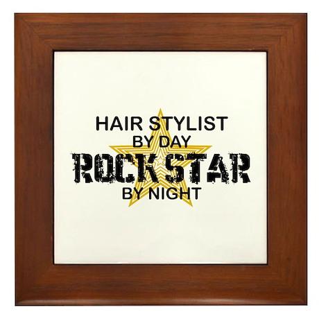 Hair Stylist Rock Star Framed Tile
