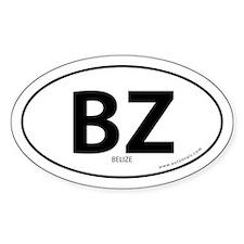 Belize country bumper sticker -White (Oval)