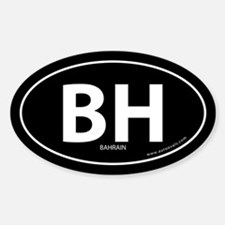 Bahrain country bumper sticker -Black (Oval)
