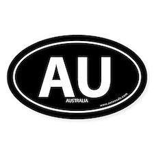 Australia country bumper sticker -Black (Oval)