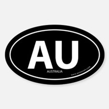 Australia country bumper sticker -Black (Oval)