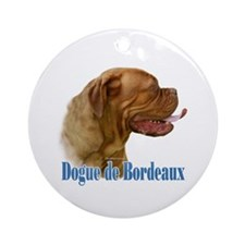 Dogue Name Ornament (Round)