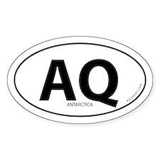 Antarctica country bumper sticker -White (Oval)