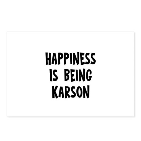 Happiness is being Karson Postcards (Package of 8)