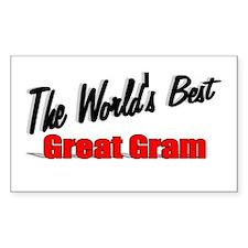 """The World's Best Great Gram"" Sticker (Rectangular"