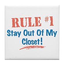 Rule #1 Closet Tile Coaster