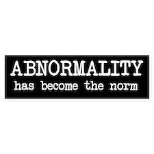 Abnormality Bumper Bumper Sticker