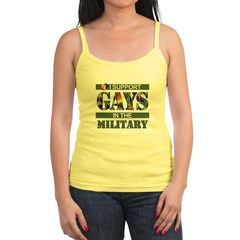 I SUPPORT GAYS IN THE MILITAR Jr.Spaghetti Strap