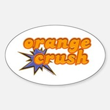 Orange Crush Oval Decal