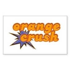 Orange Crush Rectangle Decal